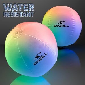 Light Up Beach Ball with Color Change LEDs - Overseas Print